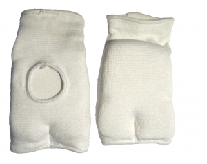 Elasticised Cotton hand Mitts -Japanese Style - White