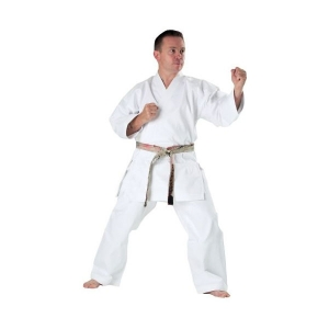 WHITE 8oz Karate Uniform Martial Arts Training Gi Rising Sun Karate Gi
