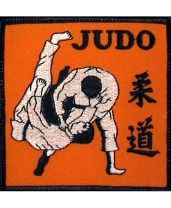 judo throw emblem yellow