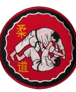 judo throw emblem red