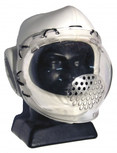 Vinyl Head Guard with Full Face Plastic Shield