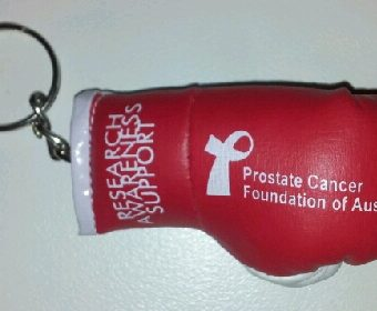 Boxing Glove Keychain Prostate Cancer Support
