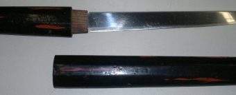 Japanese Tanto 7 Red & Black