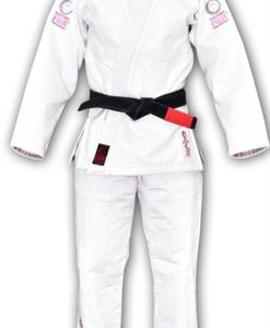 FUJI victory kids karate uniform white with pink blossom