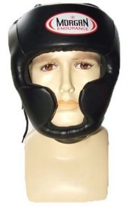 MORGAN Thai style full face head guard - Black
