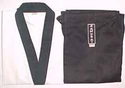8oz Karate Gi White With Black Trim