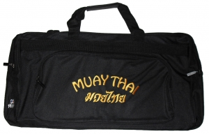 Martial Arts Equipment Bag Muay Thai - Gold Text