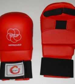 World Karate Federation - Approved Hand Mitts - Red or Blue
