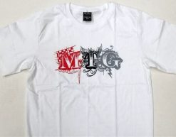 MTG Print T-shirt - White. Knock 'Em Out
