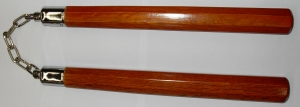 Ball Bearing Octagonal Nunchaku Natural Wood