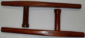 tonfa okinawan natural wood