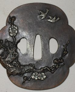Japanese sword Fitting -Tsuba. Signed.