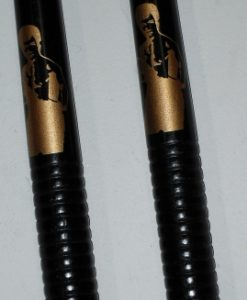 nunchaku hardwood ribbed with bruce lee black