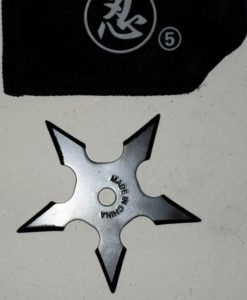 5 point Live Blade Throwing Star- Black