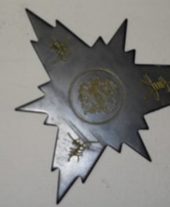 3 point Ninja Star with spikes and Asian characters