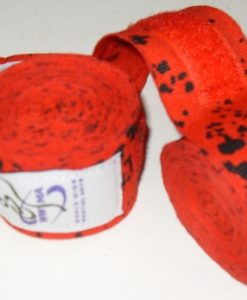 WWMA pro series hand wraps red and black