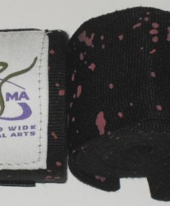 WWMA pro series hand wraps black and red