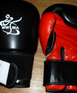 WWMA boxing gloves black and red