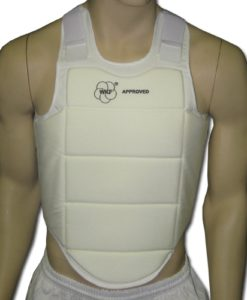 WKF Approved - PARAFLY - White Inner Chest Guard
