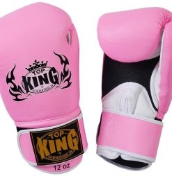 Top King 'Pro' Pink Boxing Gloves