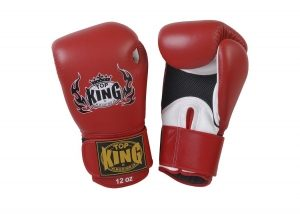 Top King 'Pro' Boxing Gloves - Red