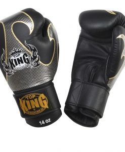 Top King Gloves - Black white screen printed black finish