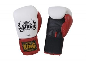 Top King 'Pro' Boxing Gloves - Red/White