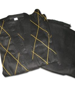karate uniform black and yellow