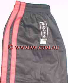 Elastic Gi pants- Two Stripe Black Pants