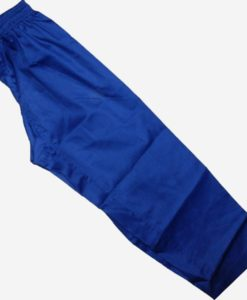 elastic karate gi pants blue