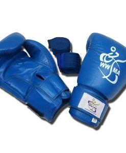 World Wide Martial Arts Leather Boxing Gloves - White or Blue OR BLACK OR RED