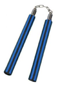 bluemid_foam-nunchaku-black-and-blue-stripe