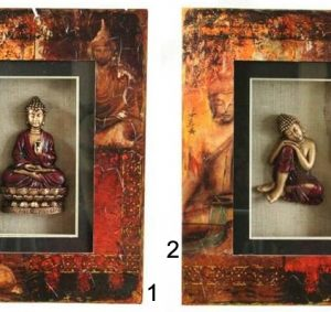 40x30CM MEDITATING BUDDHA SHADOW BOX 2 designs