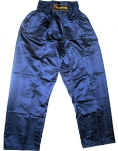 Elastic Waist Pants - Satin - Blue