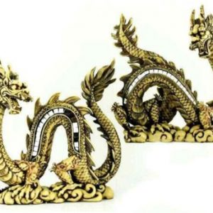 26CM IVORY CHINESE DRAGON WITH MIRRORS