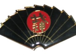 Black Fan Pin