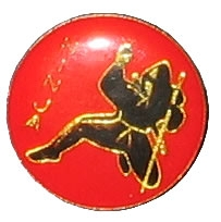 Ninja Pin with text