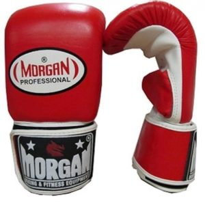 Morgan Leather Bag Mitts Red & White