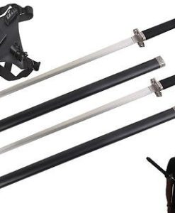 ninja sword set with crossed back harness