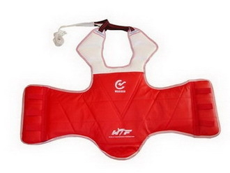 WTF approved Taekwondo reversible body protector - Red/Blue