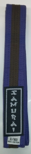 Grading Belt - Purple with Brown Stripe
