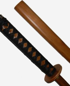 red oak bokken bound scabbard