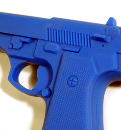 blue rubber training gun