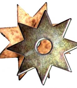 8 point Throwing star solid center - Gold or Copper