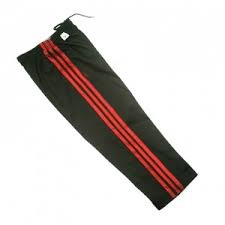 karate pants black 3 red stripe