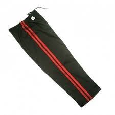 karate pants black 2 red stripe