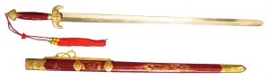Tai Chi Sword red wooden scabbard