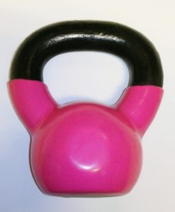 kettle bell with pink coating 4kg