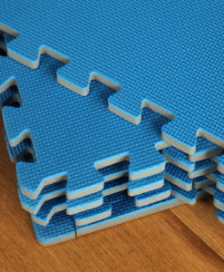 interlocking gym floor mats blue