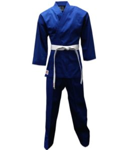 karate uniform blue